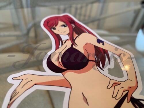 Bikini Sun Fun Sticker Vinyl Decal Sign Erza Scarlet b Anime Fairy Tail
