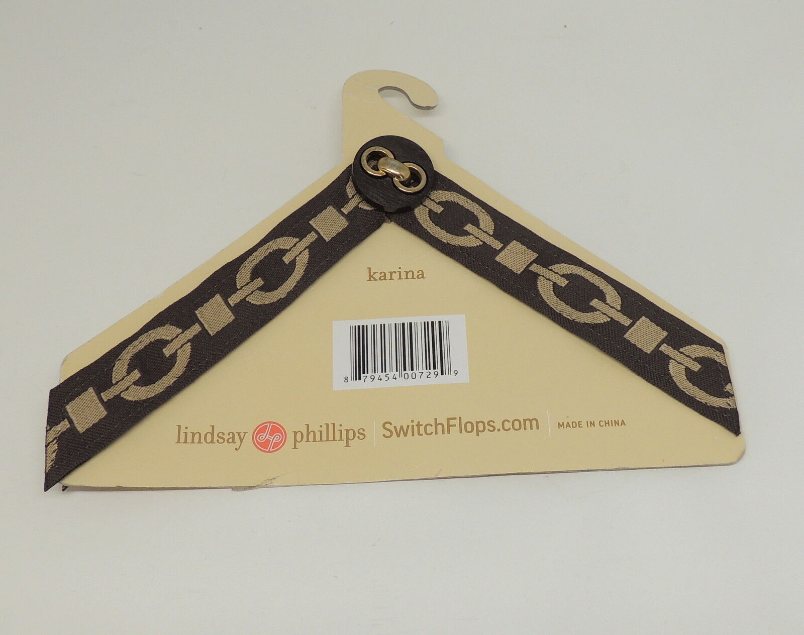 Lindsay Phillips Switchflops KARINA Brown Chain 9 10 11 New Flip Flop Strap