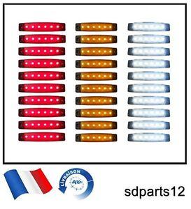30-24V-Led-Feux-De-Gabarit-Camion-Orange-Blanc-Rouge-Pour-Renault-Iveco-Mercedes