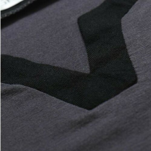 Mens Long sleeve V Neck Tees T-Shirt Plain Pullover Slim Fit Casual Occident B