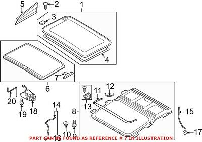 8D5877165A Sunroof Blind Guide Piece Set of Four Genuine OE