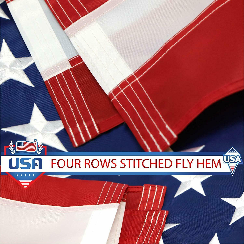 New 2 x 3 Ft U.S American Flag USA Polyester Stars Brass Grommets 0003