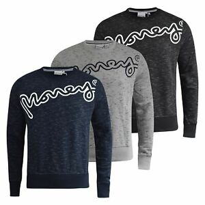 Mens-Jumper-Money-Clothing-Hardway-Crew-Neck-Sweatshirt