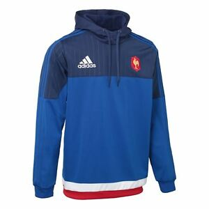adidas French Fed Rugby Hooded Sweat S07527~Mens~Ho<wbr/>odies~S, M, L &amp; XL~RRP £39.99