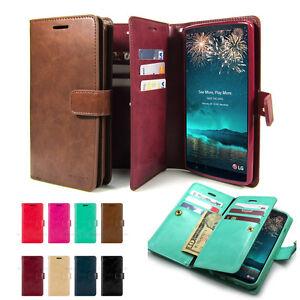 LG-G8-G7-V30-V40-Case-10Card-Flip-Protective-Leather-Dual-Wallet-Case-Book-Cover