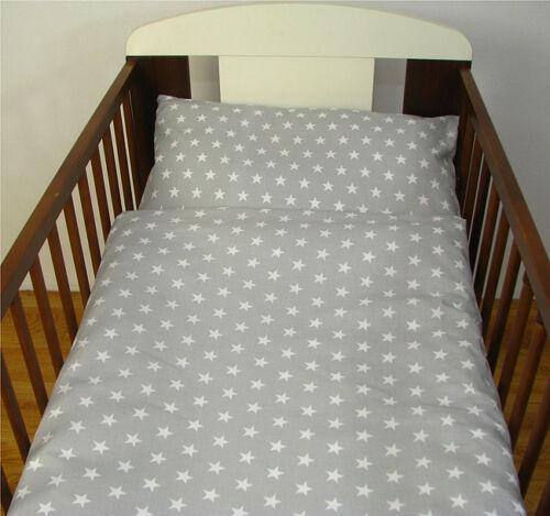 Nursery Baby Bedding Set 2-10 Pcs120x90-135x100-150x120 Stars White//Grey Curtain