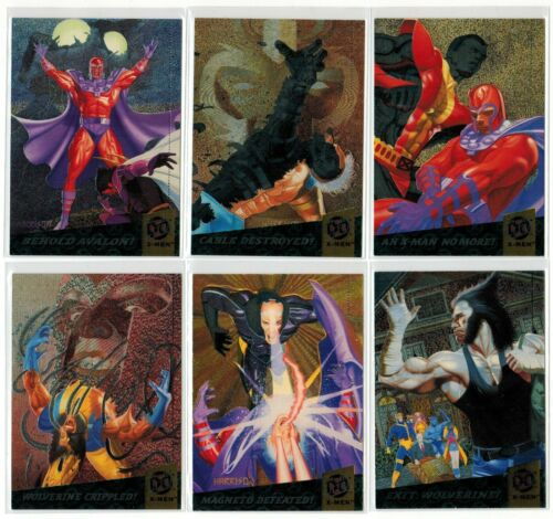 1994 X-MEN SERIES 1 FLEER ULTRA MARVEL FATAL ATTRACTIONS 6 CARD INSERT CHASE SET