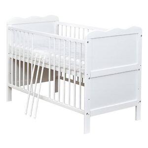 Babybett-Kinderbett-Juniorbett-Weiss-140x70-umbaubar-NEU