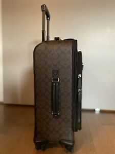 COACH-Leather-Suitcase-Carryon
