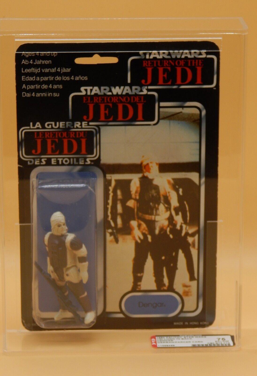 Autoridad Figura de de de Acción 75 Star Wars Dengar Tri-Logo MOC Acción Figura oscuro armadura variante PBP Rara   40% de descuento