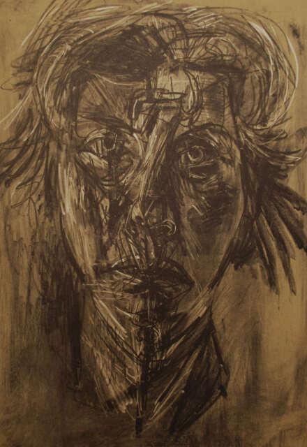 RITRATTO Portrait RENATO SANTINI - Litografia Originale