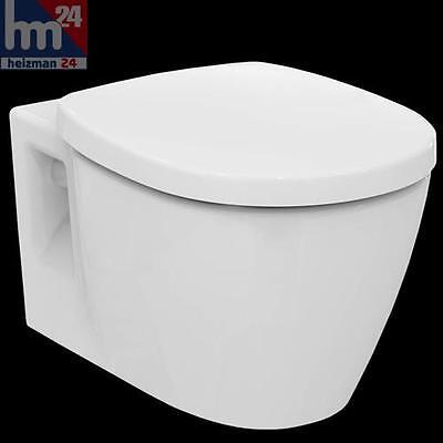 Ideal Standard Connect Wandtiefspül-WC spülrandlos E817401 inkl. WC-Sitz E712701