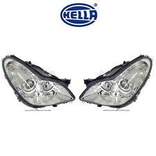 NEW Mercedes W219 CLS500 Headlight Assembly Set of Left and Right Bi-Xenon Hella