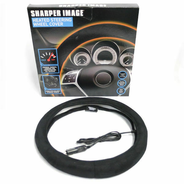 Sharper Image Siaa4 Heated Steering Wheel Cover Fits Any