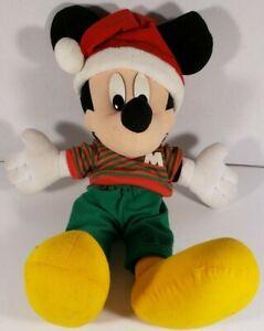"Disney Christmas Holiday Mickey Mouse Mattel Kohls Arcotoys Plush Doll 18"""