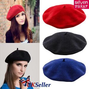 Solide-hiver-francais-style-beret-ARTISTE-CHAPEAU-decontracte-Femme-Classique