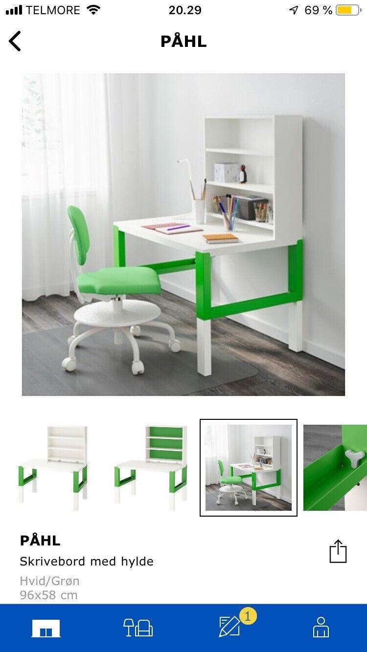 Picture of: Skrivebord Ikea Pahl Dba Dk Kob Og Salg Af Nyt Og Brugt