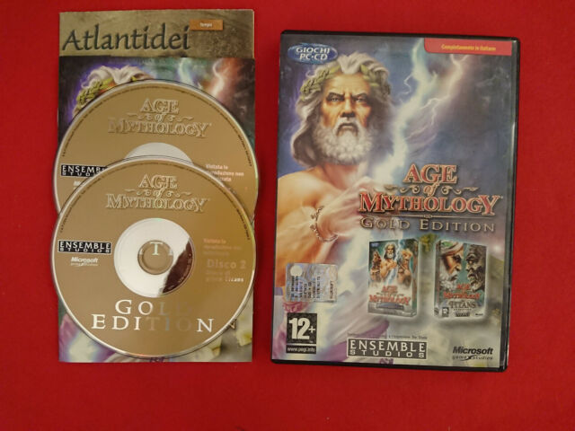PC COMPUTER AGE OF MYTHOLOGY GOLD EDITION + ESPANSIONE THE TITANS ITA ITALIANO