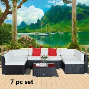 7 Garden Wicker Sectional Sofa Set with Cushion Patio Outdoor / PATIO FURNITURE SALE / DIRECT FROM FACTORY / PATIO SET Oshawa / Durham Region Toronto (GTA) Preview