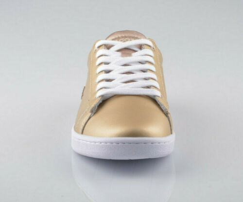 Womens Lacoste Shoes Gold Carnaby EVO 118 1 SPW Gold Sneakers NEW