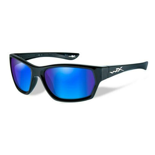 Wiley X Moxy Polarized Blue Mirror Lens Gloss Black Frame Polbrillen