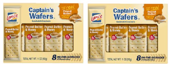 Lance Captain's Wafers Peanut Butter & Honey Sandwich Crackers 2 Box Pack