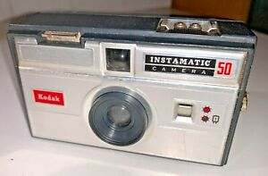 A rare, British-made Kodak Instamatic 50 compact for 126 film with Case, 1960s