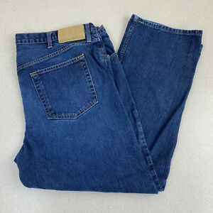 Eddie-Bauer-Jeans-Mens-42X30-Blue-Straight-Leg-Classic-Cotton-Denim-Medium-Wash