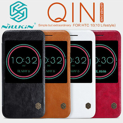 NILLKIN Qin Ultra-thin Smart View Window Flip Leather Case Cover For HTC 10