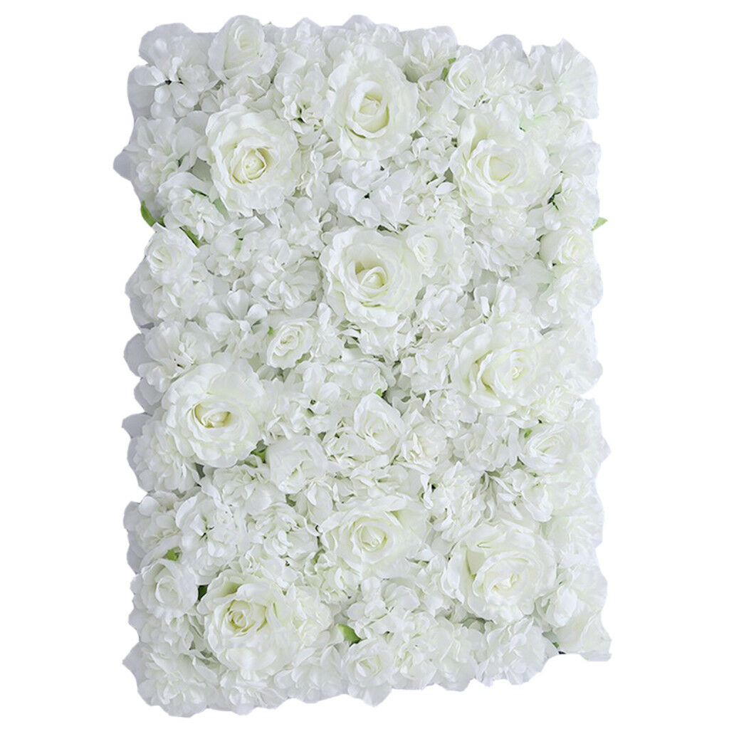5pcs esclusivo SILK FLOWER Wall Panel sfondo Casa Wedding Decor Bianco