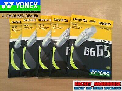 2 x PACKETS YONEX BG66 ULTIMAX BADMINTON RACKET STRING 100/% GENUINE
