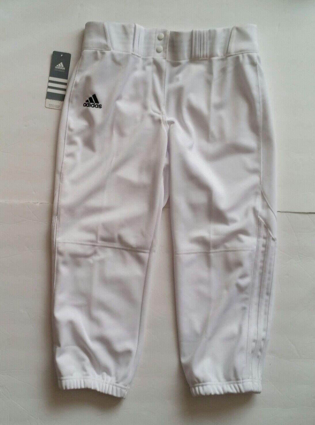 Adidas Diamond Queen CP White Softball Pants Women's M Baseball NWT  60