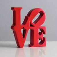 Red Resin Robert Indiana Love Word Art Decor Sculpture Valentine Gift