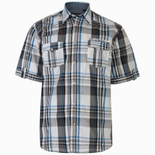 KAM Groß Herren Übergröße Baumwolle Blau//Marineblau Kariertes Hemd
