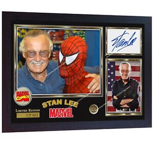 Stan-Lee-signed-AUTOGRAPHED-MARVEL-COMICS-Spider-Man-film-photo-print-Framed