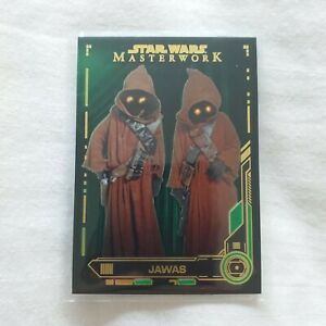 Star-Wars-Masterwork-2019-Jawas-35-Green-Parallel-Base-Card-77-99