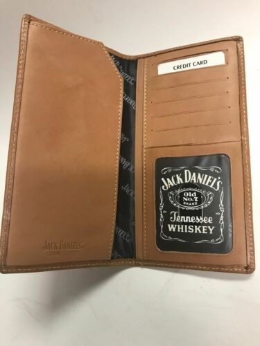 Hand Tooled Jack Daniels Logo Rodeo Wallet On Sale