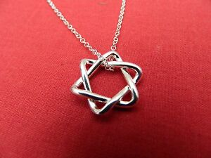 Star pendant 925 silver plated star of david and chain - <span itemprop=availableAtOrFrom>Colchester, United Kingdom</span> - Star pendant 925 silver plated star of david and chain - Colchester, United Kingdom