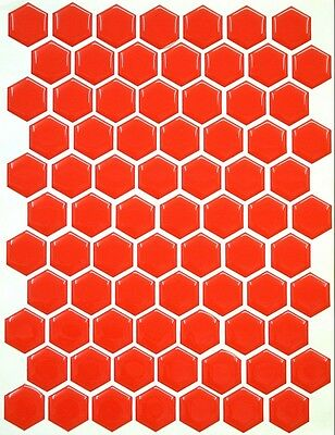 Design your own 3D Electric Blue Gel Tank Pad 70 Hexagon set Dimensions