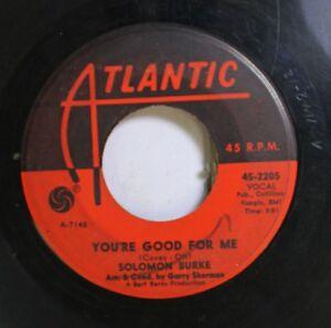 Soul-45-Solomon-Burke-You-039-Re-Good-For-Me-Beautiful-Brown-Eyes-On-Atlantic