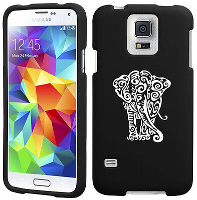 For Samsung Galaxy S4 S5 2 Piece Snap On Rubber Hard Case Cover Tribal Elephant
