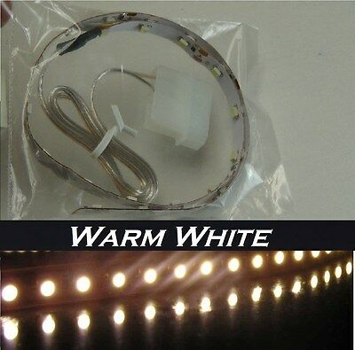 Warm White LED strip 15 inches Self-adhesive for PC Computer case PC case Light