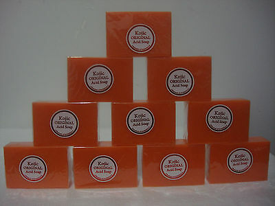 LOT OF 10 KOJIC ORIGINAL PAPAYA WHITENING ACID SOAP 4.2 OZ