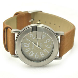Fashion-034-G-034-Face-Numeral-Dial-Leather-Band-Lady-Women-Girl-Quartz-Wrist-Watch