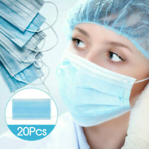 20X Disposable Face Mask Anti Flu Dust 3 Layer Masks Protective NOW IN STOCK