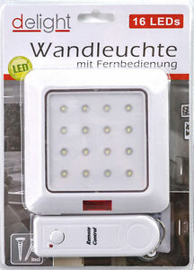 led wandleuchte mit fernbedienung nachtlicht wandleuchte batterie m07 ebay. Black Bedroom Furniture Sets. Home Design Ideas