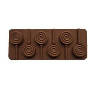 Round-Lollipop-Cake-Mold-Silicone-Candy-Chocolate-With-Stick-Tools-Decor-WE