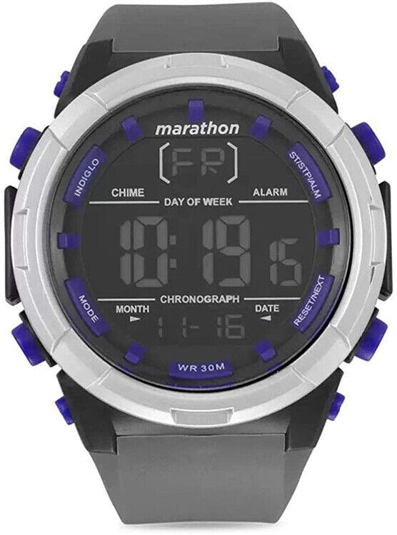 Timex Men's Marathon Digital Quartz Grey Silicone Watch TW5M21000 | Ebay