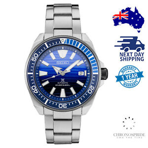 SEIKO-PROSPEX-Samurai-SRPC93-Blue-Dial-Save-The-Ocean-Divers-Stainless-Watch