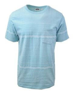 Vans-Off-The-Wall-Men-039-s-Abstract-Teal-Striped-S-S-Tee-S04-Retail-34